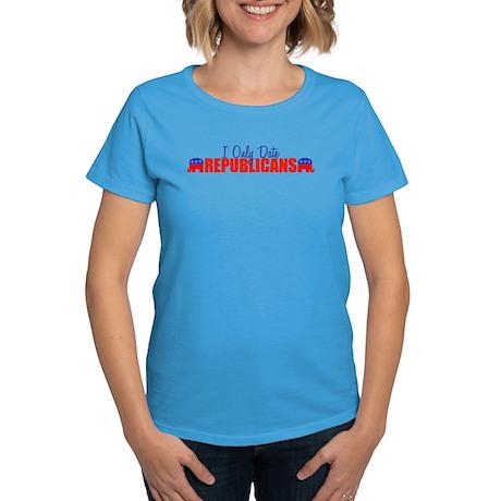 I Only Date Republicans Women's Dark T-Shirt