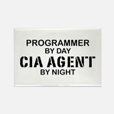 Programmer CIA Agent Rectangle Magnet