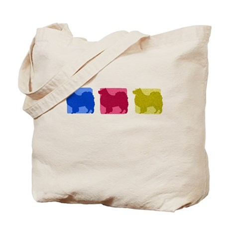 Color Row Finnish Lapphund Tote Bag