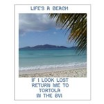 Life's a Beach Small Poster