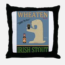 Wheaten Irish Stout Throw Pillow
