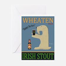 Wheaten Irish Stout Greeting Card