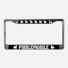 Pibblemobile (Pit Bull) License Plate Frame