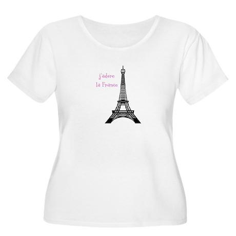 j'adore Women's Plus Size Scoop Neck T-Shirt