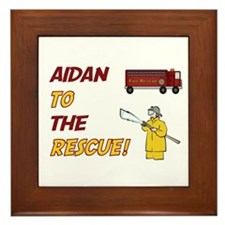 Aidan to the Rescue!  Framed Tile