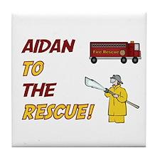 Aidan to the Rescue!  Tile Coaster