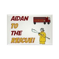 Aidan to the Rescue! Rectangle Magnet