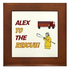 Alex to the Rescue!  Framed Tile