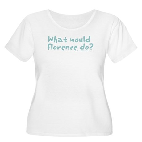 What would Florence do? Women's Plus Size Scoop Ne