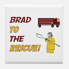 Brad to the Rescue!  Tile Coaster