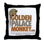 GoldenPalace.com Monkey Throw Pillow