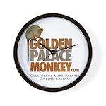 GoldenPalace.com Monkey Wall Clock