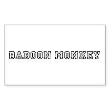 Baboon monkey Rectangle Decal