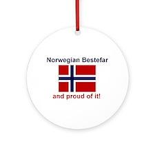Proud Norwegian Bestefar Ornament (Round)