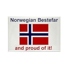 Proud Norwegian Bestefar Rectangle Magnet