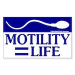 Motility = Life Sticker
