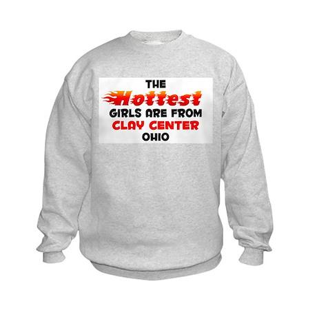 Hot Girls: Clay Center, OH Kids Sweatshirt