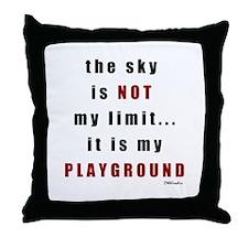 Not My Limit Throw Pillow