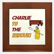 Charlie to the Rescue!  Framed Tile