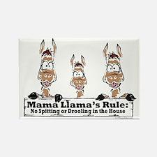 Mama Llamas Rules Rectangle Magnet
