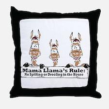 Mama Llamas Rules Throw Pillow