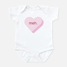 Meh Heart Infant Bodysuit