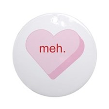 Meh Heart Ornament (Round)