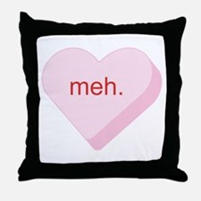 Meh Heart Throw Pillow