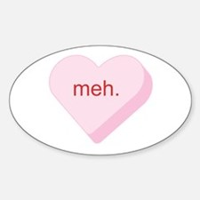 Meh Heart Oval Decal