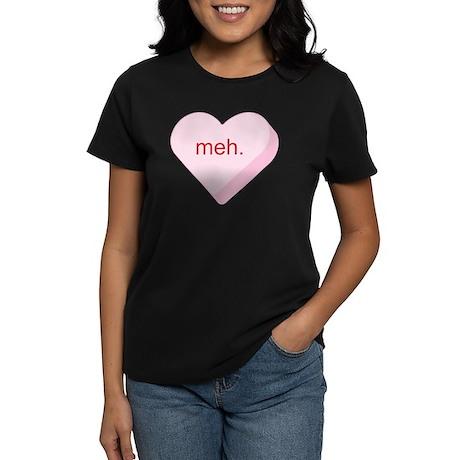 Meh Heart Women's Dark T-Shirt