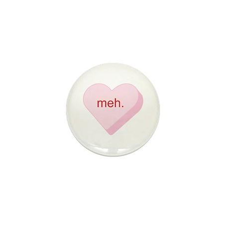 Meh Heart Mini Button