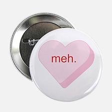 """Meh Heart 2.25"""" Button"""