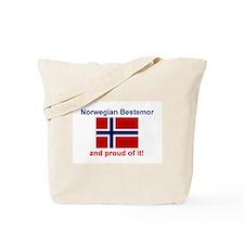 Proud Norwegian Bestemor Tote Bag
