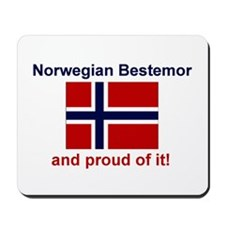 Proud Norwegian Bestemor Mousepad