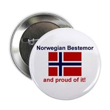 "Proud Norwegian Bestemor 2.25"" Button"
