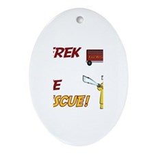 Derek to the Rescue! Oval Ornament