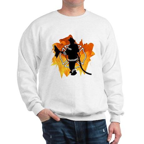 Firefighter Flames Sweatshirt
