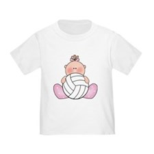 Lil Volley Ball Baby Girl T