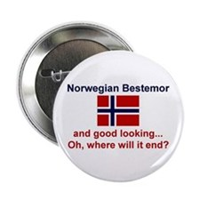 "Gd Lkg Norwegian Bestemor 2.25"" Button"