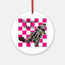"""""""Michigan Mafia Checkers"""" Ornament (Round)"""