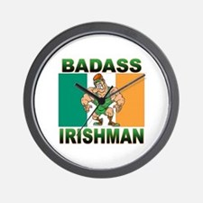 Bad Ass Irishman Wall Clock