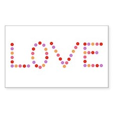 Love in Flowers Rectangle Decal