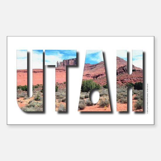 Utah Rectangle Decal