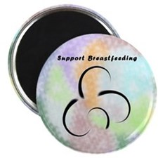 Breastfeeding support magnets