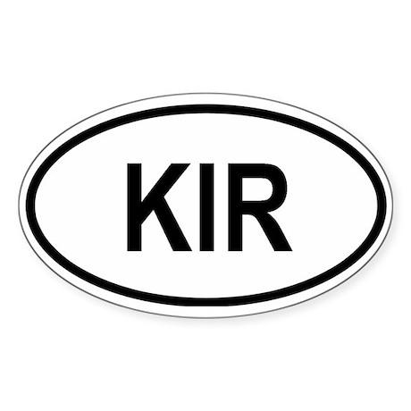 Kiribati Oval Sticker