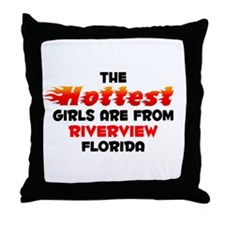 Hot Girls: Riverview, FL Throw Pillow