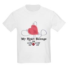 My Heart Belongs to WoW T-Shirt