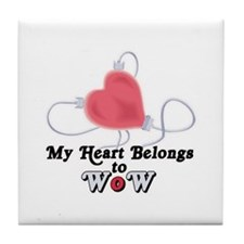 My Heart Belongs to WoW Tile Coaster