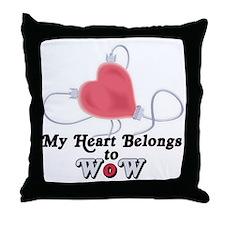 My Heart Belongs to WoW Throw Pillow