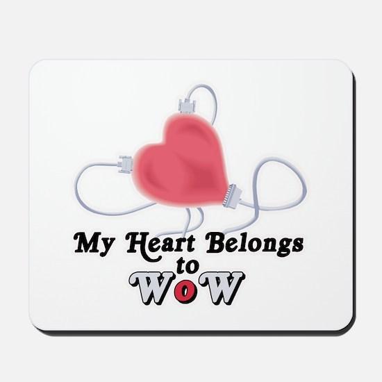 My Heart Belongs to WoW Mousepad